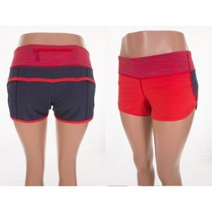 LULULEMON Run Speed Short 4 Red Wee Are From Space